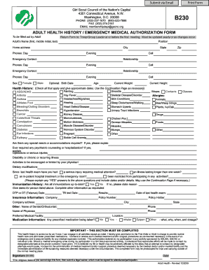 Health History Form Templates - Fill Online, Printable, Fillable ...
