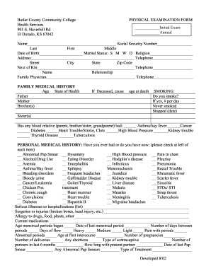 15 Printable Family Medical History Form Template