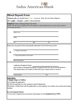 Simple Direct Deposit Form Fill Online Printable Fillable Blank Pdffiller