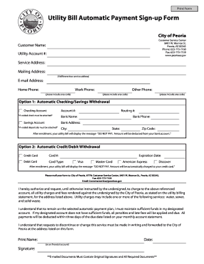 City Of Peoria Water Bill Payment