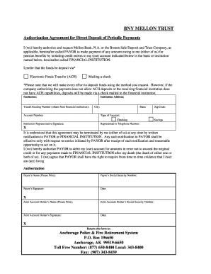 ach direct deposit authorization form