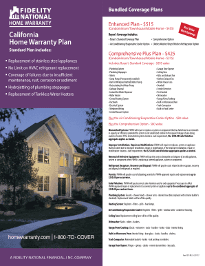 Fillable Online California Home Warranty Plan Fax Email