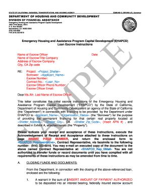 Escrow Instructions Form Florida Fill Online Printable