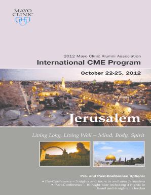 13615ad71c7fa Fillable Online mayo Alumni International CME Program - MC2400 - 109 - Mayo  Clinic - mayo Fax Email Print - PDFfiller
