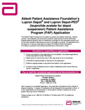 Lupron Depot Patient Assistance Program