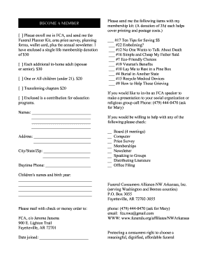 Funeral Planner Template Application