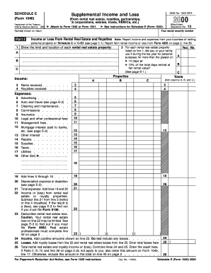 Printable Form 1040 schedule e - Edit, Fill Out & Download Hot Tax ...
