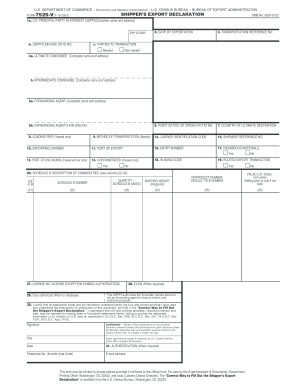Printable Shippers Export Declaration - Fill Online, Printable ...