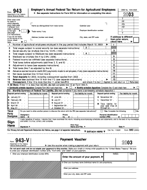 Fillable Online Form 943 - IRS Fax Email Print - PDFfiller