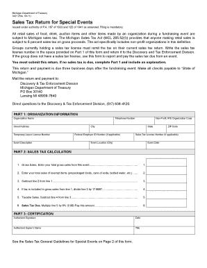 Mi Sales Tax Form 3421 - Fill Online, Printable, Fillable, Blank ...