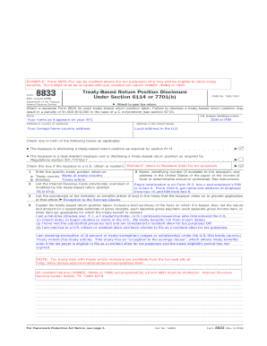 Completed Form 8833 - Fill Online, Printable, Fillable, Blank ...