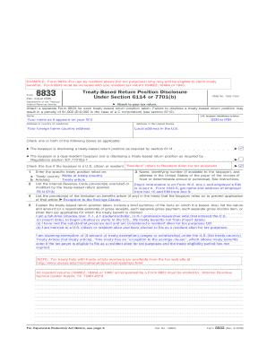 Form 8833pdffillercom - Fill Online, Printable, Fillable, Blank