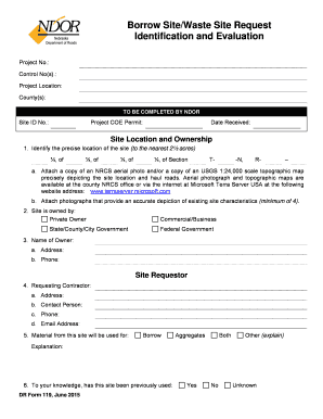 DR Form 119 Borrow - Waste Site Request.dot