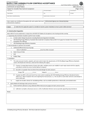 Project scope statement template edit fill out print state of california supply fan variable flow controls acceptance cecnrcamch07a revised 0116 yadclub Gallery
