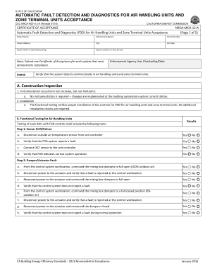 Project acceptance certificate template fill out online forms state of california automatic fault detection and diagnostics for air handling units and zone terminal units maxwellsz