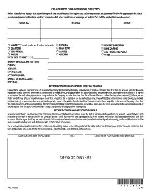 transamerica bank draft form