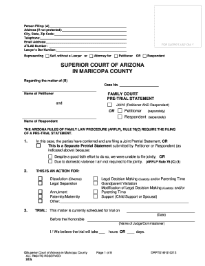 Pre Trial Statement - Fill Online, Printable, Fillable, Blank ...
