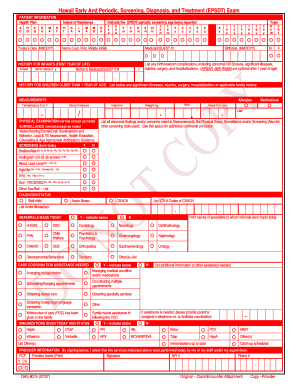 Fillable Online med-quest EPSDT Exam Form - Med-QUEST Fax Email ...