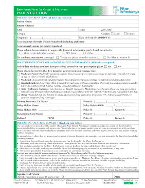Fillable Online rxassist EnRollmEnt FoRm FoR GRouP A mEdicinEs ...