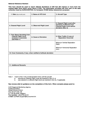 Deviation Report Form - Fill Online, Printable, Fillable, Blank ...
