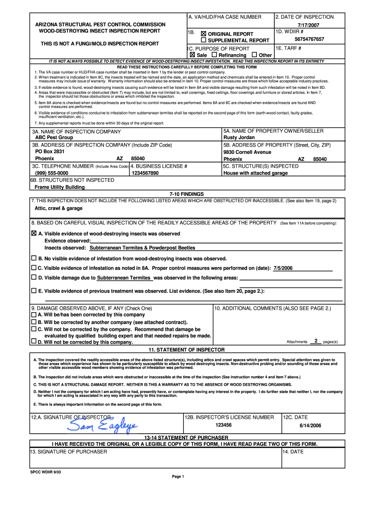 Pest Control Service Report Template Pdf - Fill Online, Printable With Pest Control Inspection Report Template