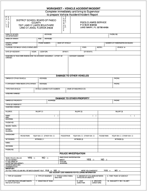 Blank Florida Accident Reports - Fill Online, Printable