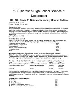 SBI3U outline rtf Fill Online, Printable, Fillable, Blank - long