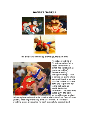 Printable freestyle wrestling techniques list - Edit, Fill
