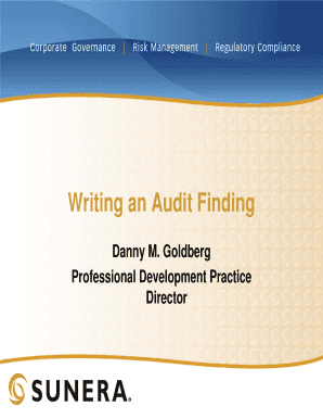 Printable How To Write Audit Findings Edit Fill Out Download