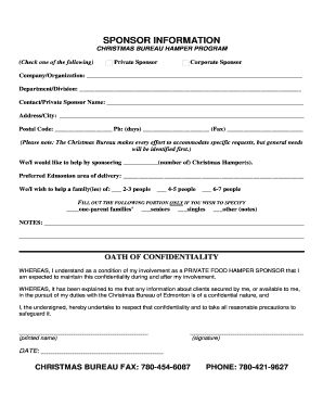 christmas bureau application form edmonton