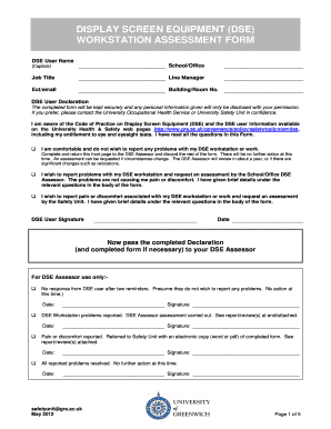 Fillable online workstation assessment form fax email print pdffiller rate this form maxwellsz