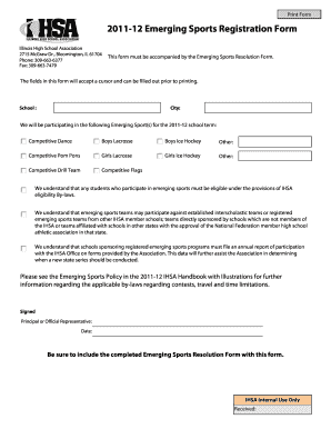 Editable high school progress report template pdf for Sport registration form template