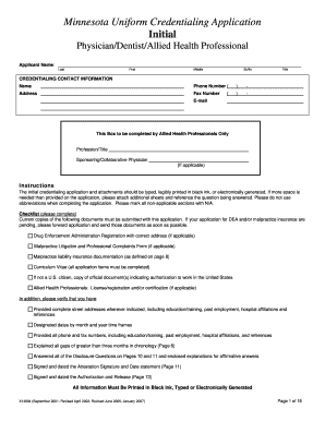 minnesota uniform credentialing application 2007-2018 Form MN X14894 Fill Online, Printable, Fillable, Blank ...