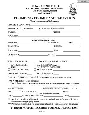 Radnor Township Building Permit Application