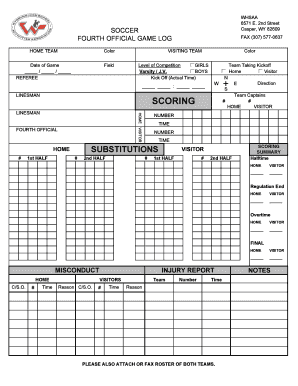Soccer Fourth Official Form - whsaa
