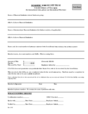 sample credit application forms