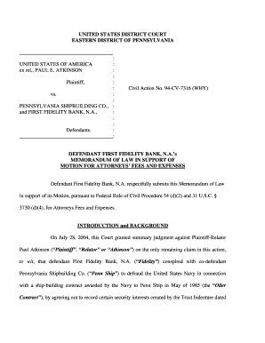 Defendant First Fidelity Bank N - Taxpayers Against Fraud Fill