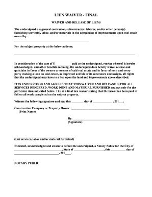 Bill of sale form tennessee lien waiver form templates for Final lien waiver template