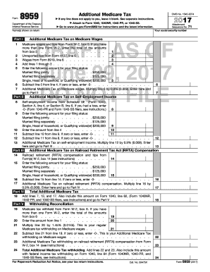 Fillable Online irs Draft Form 8959 - Internal Revenue Service Fax ...