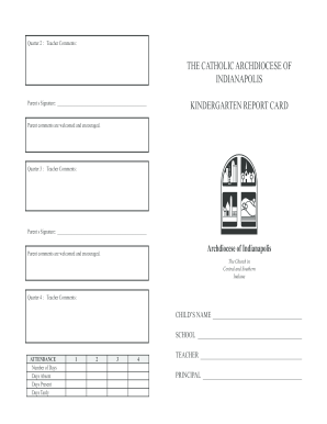 Report Card Template Forms Fillable Printable Samples For Pdf