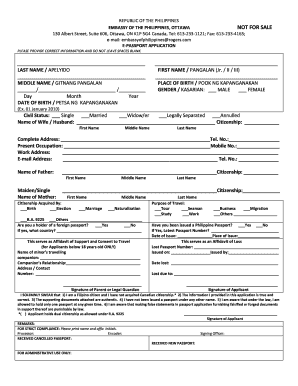 Passport Application Form Philippines - Fill Online, Printable ...
