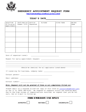 appointment request form - Edit, Print, Fill Out & Download Online ...