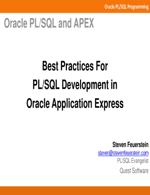 PLSQL in APEX Best Practices.pdf - Toad World