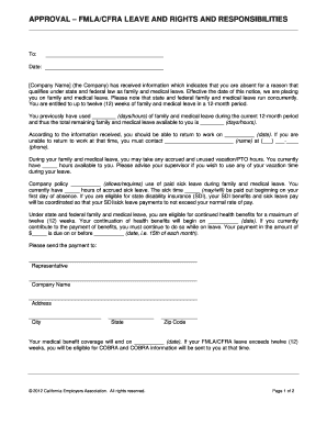 fmla rights and responsibilities Forms and Templates - Fillable ...