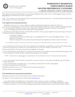General Information and Checklist - Center for Global Engagement