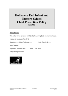 holtsmere end infant and nursery school summary report template for schools without sixth forms tes