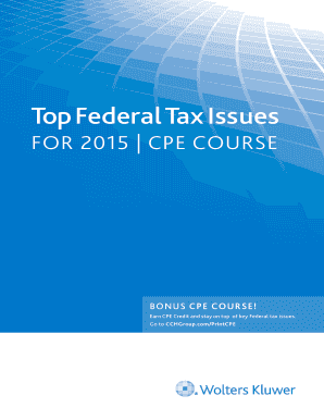 Fillable online ibdea the ibdea a ibdea fax email print pdffiller top federal tax issues for 2015 cpe course cch fandeluxe Images