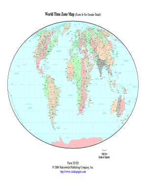 World Time Zone Map (Zoom In For Greater Detail) Form 2012D ...