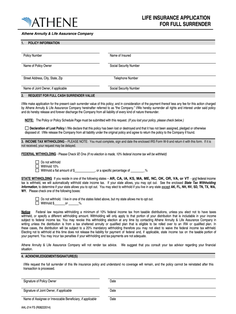 Athene Annuity Forms - Fill Online, Printable, Fillable ...