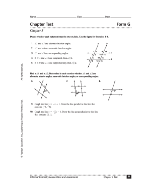 Geometry assessment book chapter 3 test b
